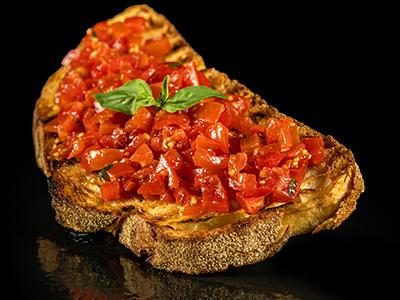 Bruschetta Mediterranea con pomodorini